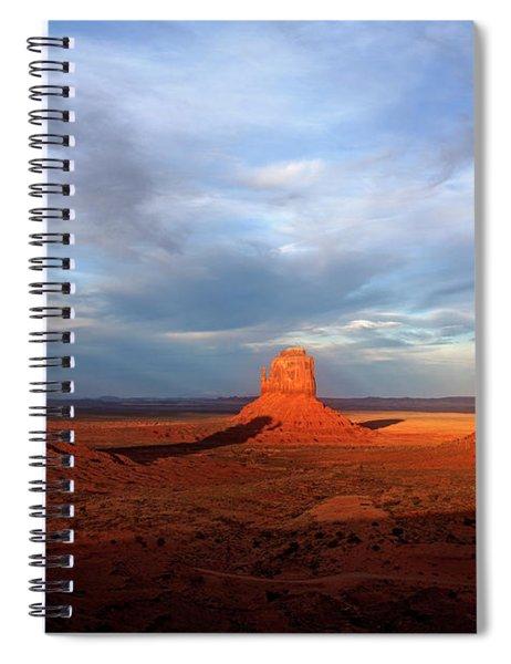 Monument Valley Sunset Spiral Notebook by Scott Kemper
