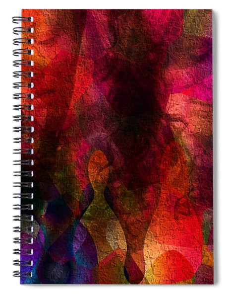 Moods In Abstract Spiral Notebook