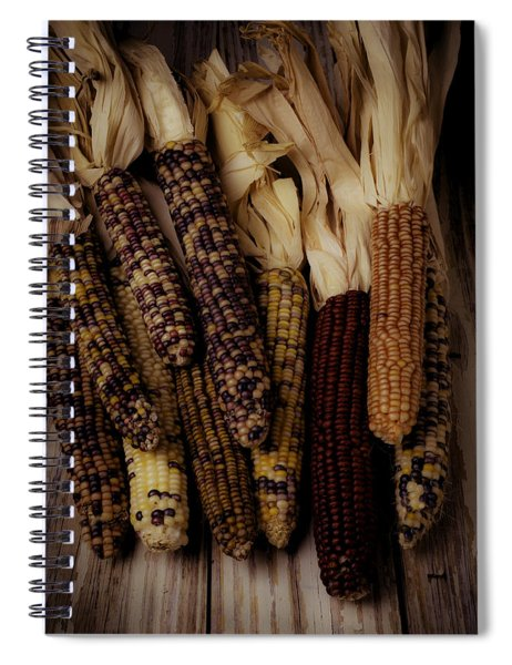 Moody Indian Corn Spiral Notebook