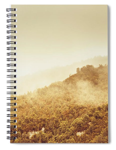 Moody Mountain Morning Spiral Notebook