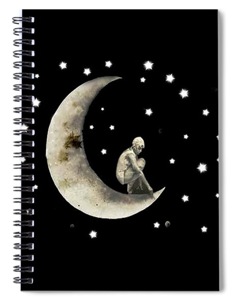 Moon And Stars T Shirt Design Spiral Notebook