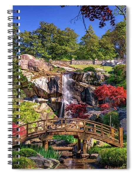 Moon Bridge And Maymont Falls Spiral Notebook
