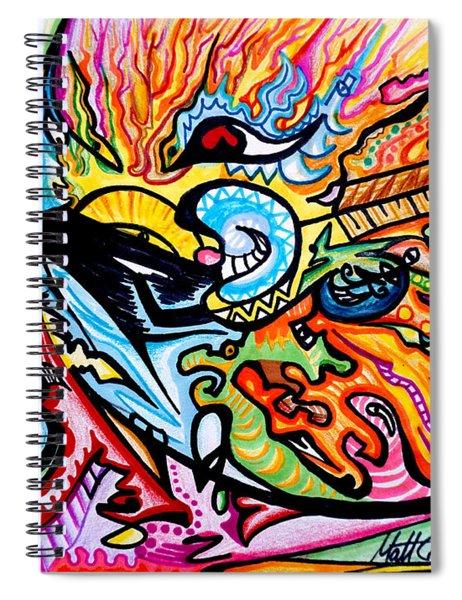 Moon Burst Spiral Notebook
