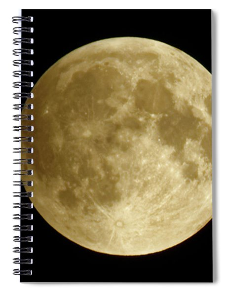Moon During Eclipse Spiral Notebook