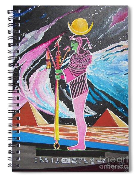Blaa Kattproduksjoner             Moon God - Osiris Spiral Notebook