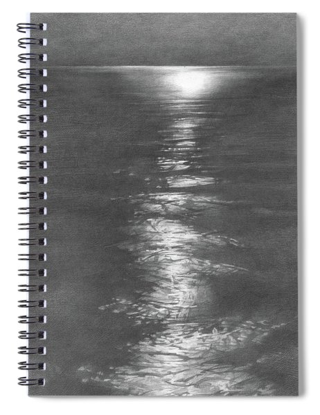 Moon Light In The Sea Spiral Notebook