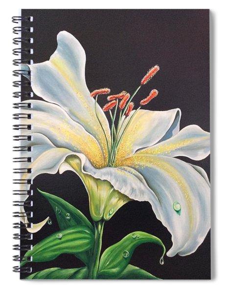 Moon Light Lilly Spiral Notebook