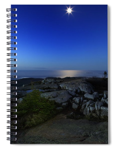 Moon Over Cadillac Spiral Notebook