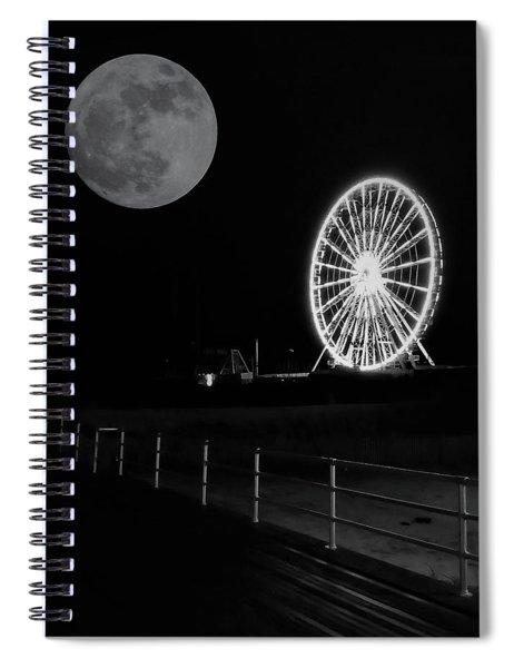 Moon Over Ferris Wheel Spiral Notebook