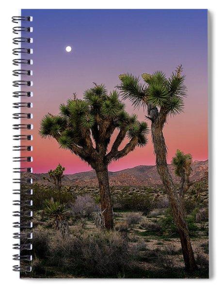 Moon Over Joshua Tree Spiral Notebook