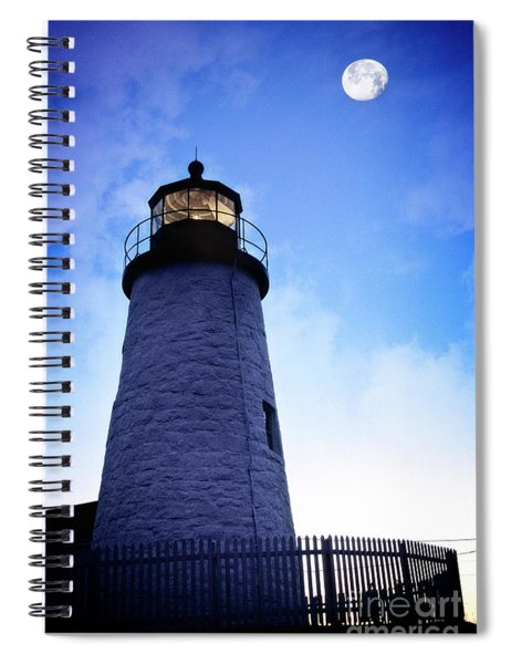 Moon Over Lighthouse Spiral Notebook