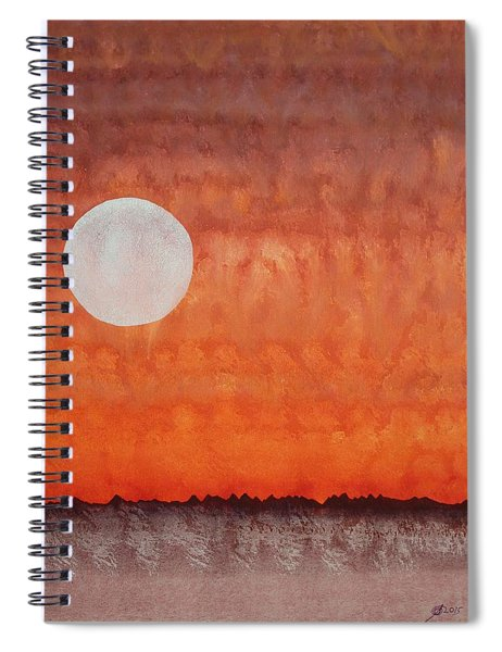 Moon Over Mojave Spiral Notebook