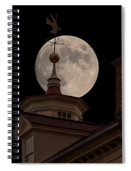 Moon Over Mount Vernon Spiral Notebook