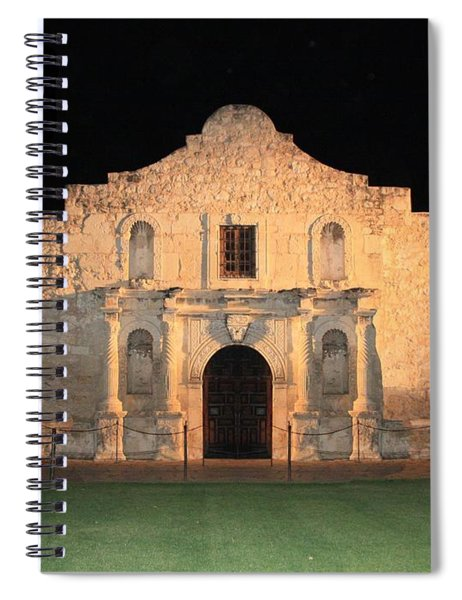 Moon Over The Alamo Spiral Notebook