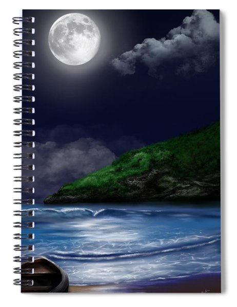 Moon Over The Cove Spiral Notebook