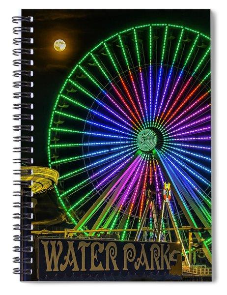 Moon Over The Ferris Wheel Spiral Notebook