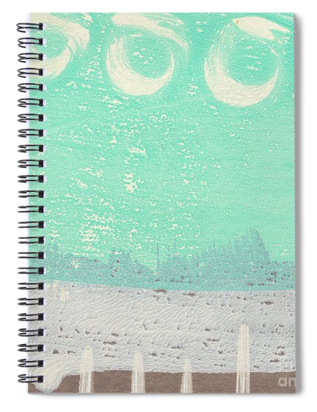 Moon Over The Sea Spiral Notebook by Linda Woods