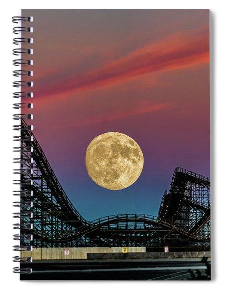 Moon Over Wildwood Nj Spiral Notebook