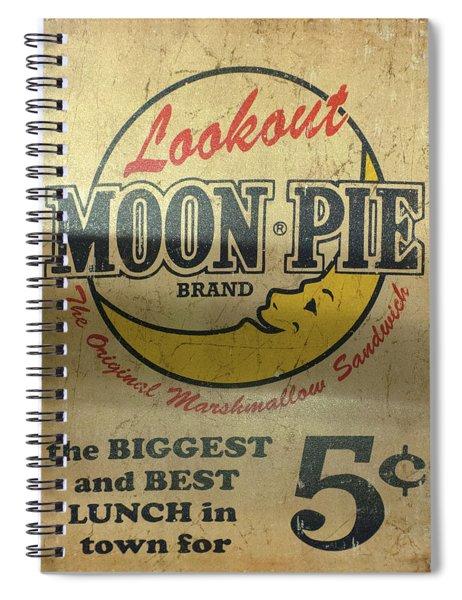 Moon Pie Antique Sign Spiral Notebook