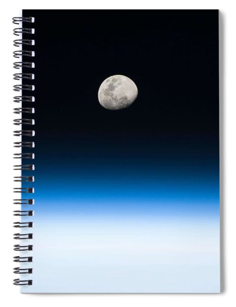 Moon Rise From The Space Station By Nasa Spiral Notebook