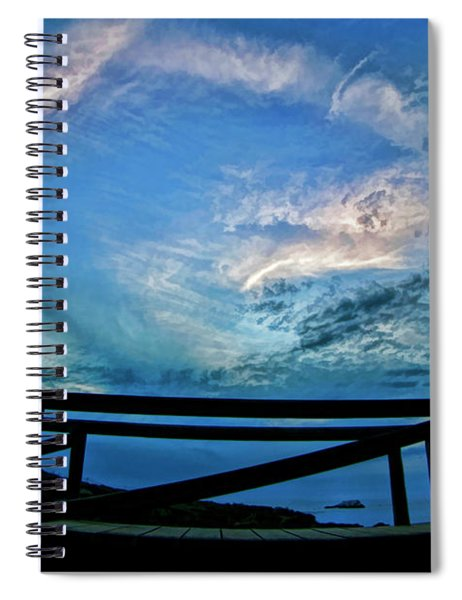 Moon Rise Over Garrapata State Park Spiral Notebook