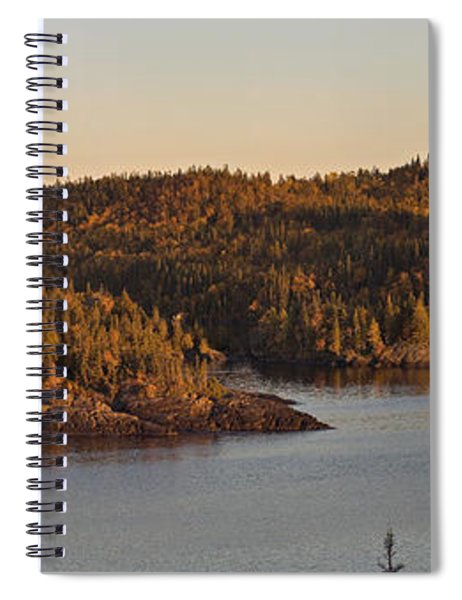 Moon Rise Over Pukaskwa Spiral Notebook
