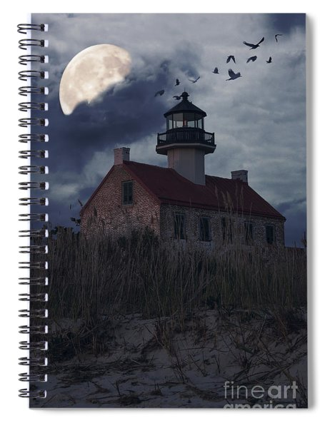 Moonlight At East Point Spiral Notebook
