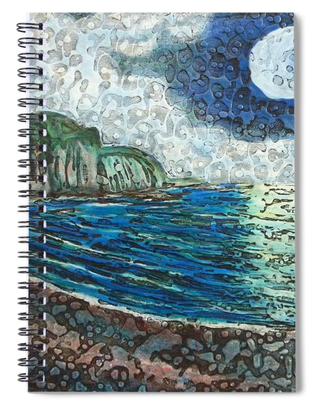 Moonlight In Pourvill Spiral Notebook