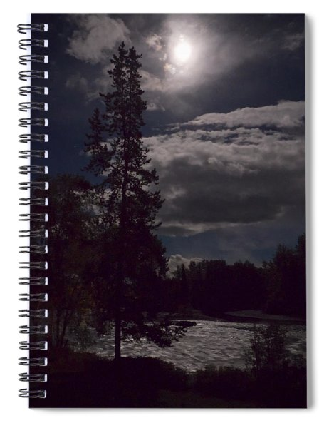 Moonlight On The River Spiral Notebook