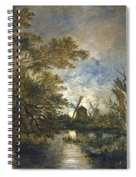 Moonlight On The Yare Spiral Notebook