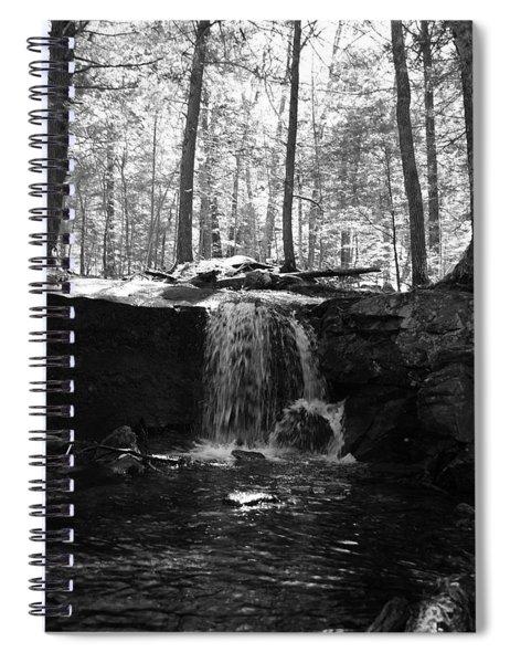 Moonlight Waterfall Spiral Notebook