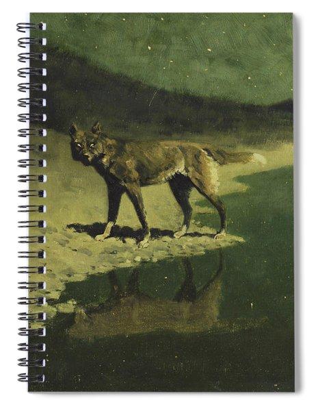 Moonlight, Wolf Spiral Notebook
