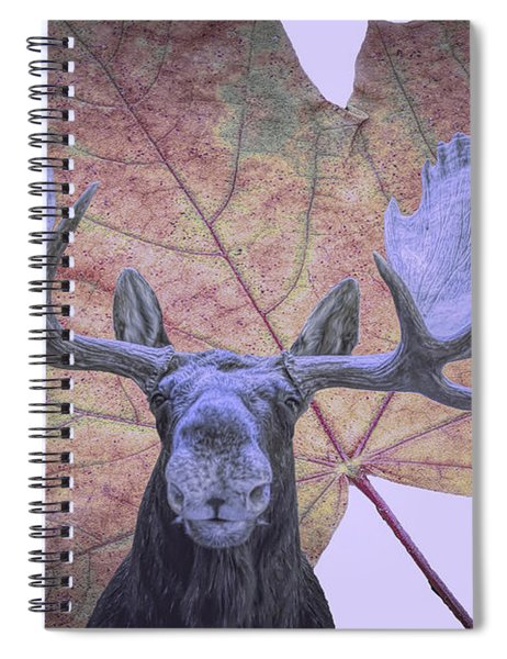 Moonlit Moose Spiral Notebook