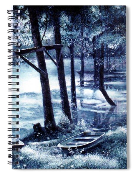 Moonlite On Village Creek Spiral Notebook