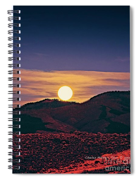 Moonrise In Northern New Mexico  Spiral Notebook