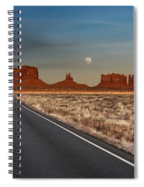 Moonrise Over Monument Valley Spiral Notebook