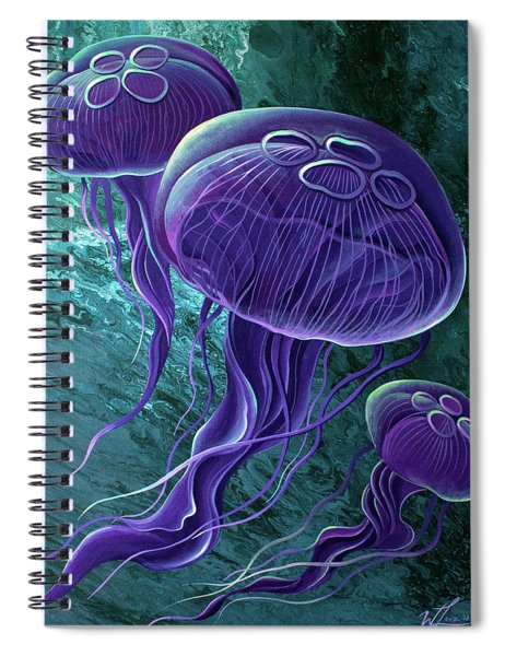 Moons Spiral Notebook