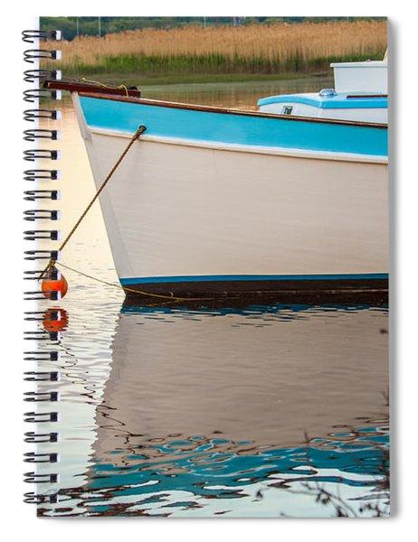 Moored Boat 2 Spiral Notebook