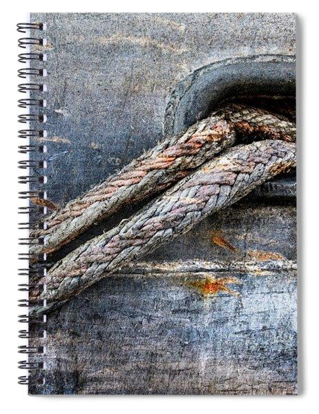Mooring Lines In Blue Spiral Notebook
