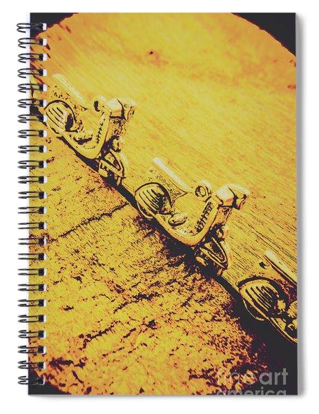 Moped Parking Lot Spiral Notebook