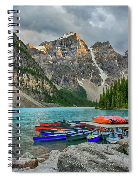 Moraine Lake Spiral Notebook