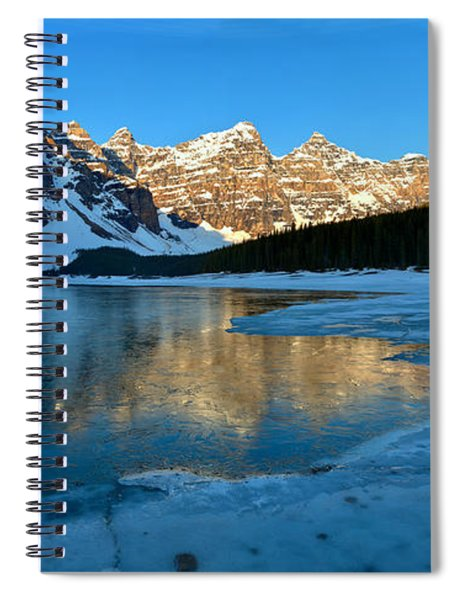 Moraine Lake Spring Sunrise Panorama Spiral Notebook