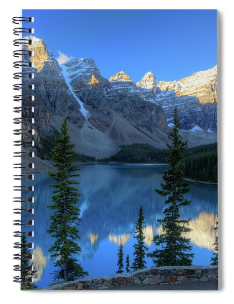 Moraine Lake Sunrise Blue Skies Spiral Notebook