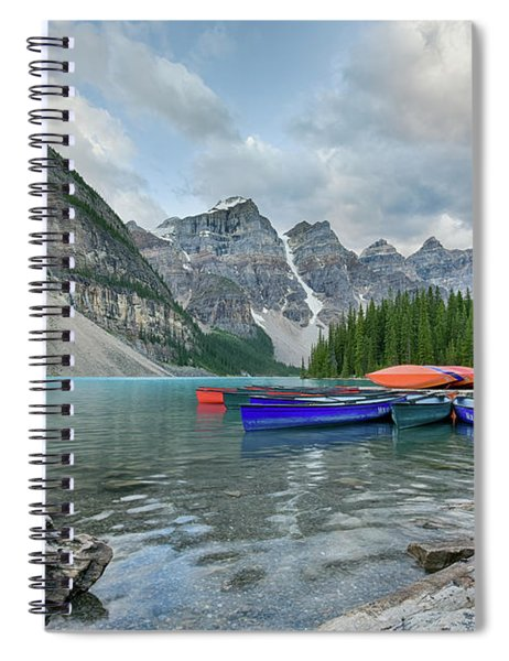 Moraine Logs And Canoes Spiral Notebook
