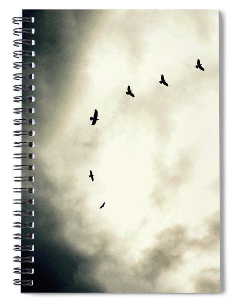 Big Sky Crows Spiral Notebook