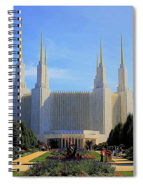 Spiral Notebook featuring the photograph Mormon Temple Dc by Patti Whitten