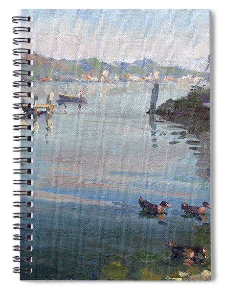 Morning At The Shores Spiral Notebook