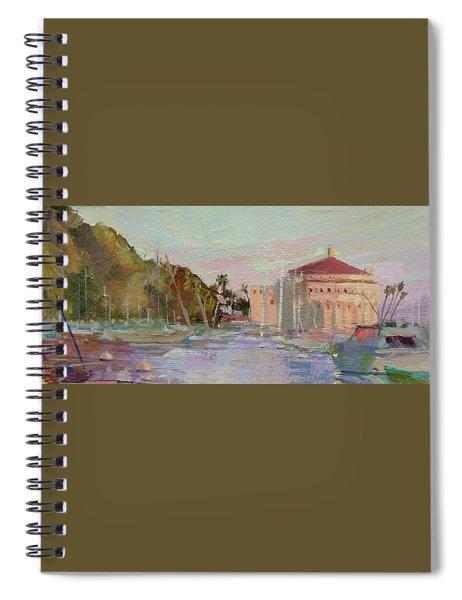 Morning Avalon Harbor - Catalina Island Spiral Notebook