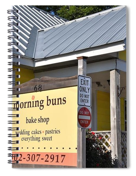 Morning Buns Sign Spiral Notebook