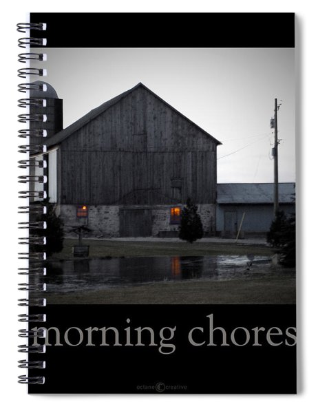 Morning Chores Spiral Notebook